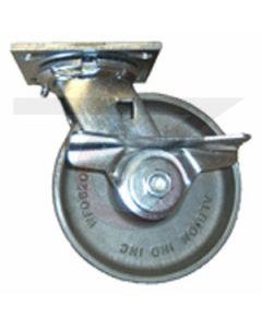 "61 Series Swivel Caster - Cam Brake - Forged Steel 4"" x 1-1/2"""