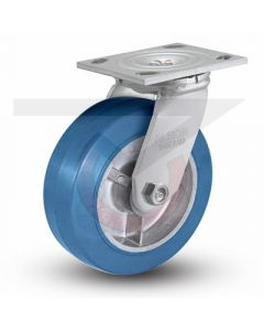 "Albion 16 Series Swivel Caster - 5"" x 2"" Neoprene on Aluminum"