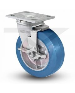 "Albion 16 Series Swivel Caster - Face Brake - Neoprene on Aluminum 8"" x 2"""