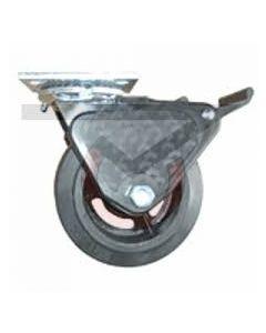 "Albion 16 Series Swivel Caster - Grip Lock Brake - Rubber on Iron 5"" x 2"""