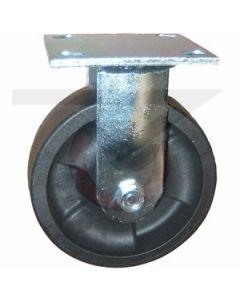 "#01HD Stainless Rigid Caster - 5"" Hi-Temp RT Wheel"