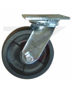 "#01HD Stainless Swivel Caster - 8"" Hi-Temp RT Wheel"