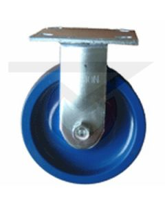 """#01HD Stainless Rigid Caster - 6"""" Solid Poly"""