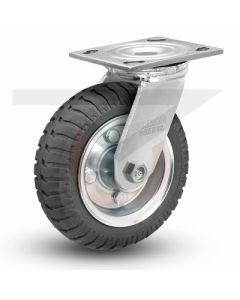 "Albion 16 Series Swivel Caster - No-Flat Monoprene 8"" x 2"""