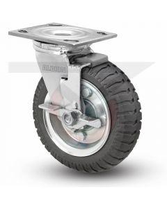 """Albion 16 Series Swivel Caster - Face Brake - No-Flat Monoprene 8"""" x 2"""""""