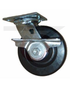 """61 Series Swivel Caster - Cam Brake - Neoprene 4"""" x 2"""""""