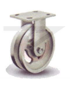 "Albion 16 Series Rigid Caster - V-Groove Cast Iron 4"" x 2"""