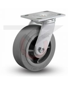 "Albion 16 Series Swivel Caster - Gray Rubber 6"" x 2"""