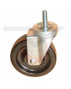 """Stainless Steel Swivel Caster - 1/2"""" Threaded Stem - 3"""" Phenolic Wheel"""