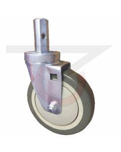 "Square Stem Caster - 7/8"" Stem - 5"" Polyurethane Wheel"