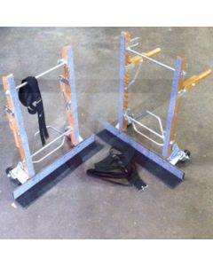 """2-Piece Furniture Movers w/ Straps - 28"""" Toe Plate"""
