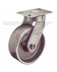 """310 Series Kingpinless Swivel Caster - 8"""" x 3"""" Forged Steel"""