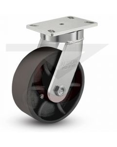 "310 Series Kingpinless Swivel Caster - 8"" x 3"" Ductile Iron"