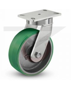 "310 Series Kingpinless Swivel Caster - 8"" x 3"" Polyurethane on Iron"