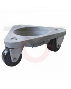 2127-HR Steel 3-Wheel Dolly - Hard Rubber Wheels - 375 lb. Capacity