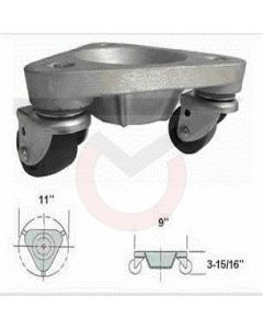 2127AL-PO  Aluminum Three Wheel Dolly - Heavy Duty (600 lb. Capacity)
