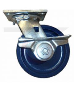 """Economy Swivel Caster - Brake - Solid Polyurethane 4"""" x 2"""""""