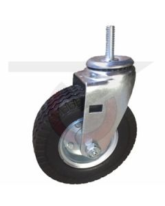 "Swivel Caster - 6"" x 2"" Flat Free - Threaded Stem 1/2""-13 x 1-1/2"""