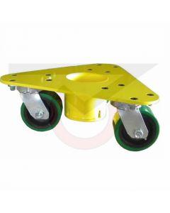 5500-PY Three Wheel Dolly - Polyurethane Wheels - 3500 lb. Capacity