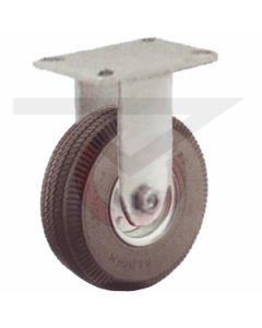"""Small Plate Rigid Caster - 6"""" x 2"""" Flat Free Wheel"""