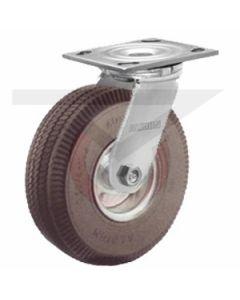 "Small Plate Swivel Caster - 6"" x 2"" Flat Free Wheel"