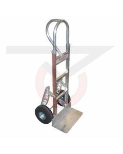 """Aluminum Hand Truck - Vertical Grip Handle - 10"""" Pneumatic Wheels"""