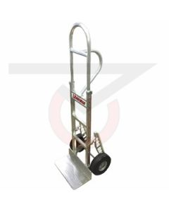 "Aluminum Hand Truck - Tall Vertical Grip Handle - 10"" Pneumatic Wheels"