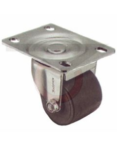 "Low Profile Caster - 2"" Polyolefin Wheel - Plate Mount"