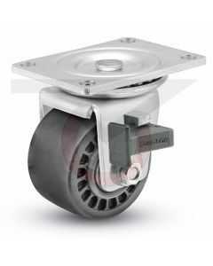 "Low Profile Swivel Caster - Brake - 3"" Glass Filled Nylon"