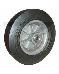 "Rubber on Poly Wheel - 12"" x 3"" with 3/4"" Ball Bearings"
