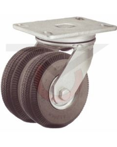 "Swivel Caster - 6"" Flat Free Dual Wheel"
