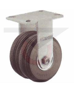 "Rigid Caster - 8"" Flat Free Dual Wheel"