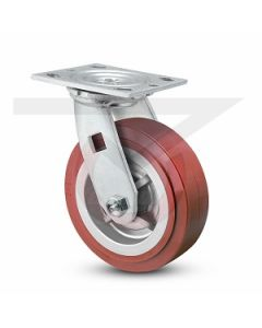 """#01HD Stainless Swivel Caster - 6"""" Poly on Poly"""