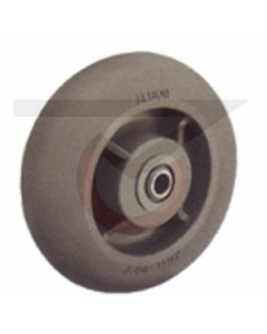 """Replacement Wheel for X-Ray Caster - 8"""" Gray Rubber"""