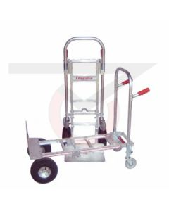 "Jr. Convertible Hand Truck - 10"" Flat Free Wheels"