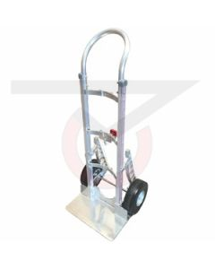 "Aluminum Hand Truck for Kegs - Loop Handle - 10"" Flat Free Wheels"