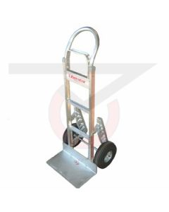 "Aluminum Hand Truck - Loop Handle - 10"" Flat Free Wheels"