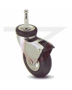 """Grip Neck Stem Caster - 3"""" Neoprene w/ Brake (110 lb. Capacity)"""