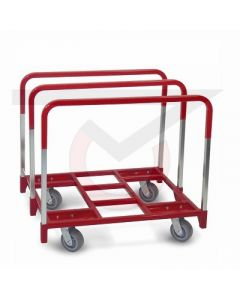 """Panel Dolly - 6"""" x 2"""" Gray Rubber Wheels"""