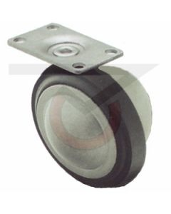 """3"""" Ball Caster - Unfinished - 1-3/16""""x2"""" Plate"""