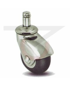 """7/16"""" x 7/8"""" Grip Ring Stem Caster - 3"""" Neoprene (110 lb. Capacity)"""