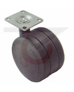 "2-1/4"" Softech Black - 1-1/2"" x 1-1/2"" Plate (100 lb. Capacity)"