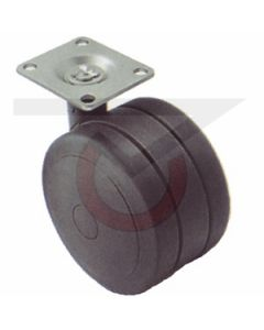 "3"" Softech Black - 1-1/2"" x 1-1/2"" Plate (165 lb. Capacity)"