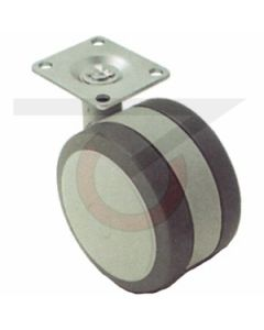 "2-1/4"" Softech Gray - 1-1/2"" x 1-1/2"" Plate (100 lb. Capacity)"