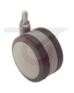 "2"" Softech Gray - 3/8""-16 x 3/4"" Threaded Stem (75 lb. Capacity)"