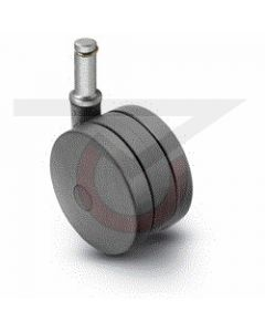 "4"" Twin Wheel Caster - 7/16"" Grip Ring Stem"