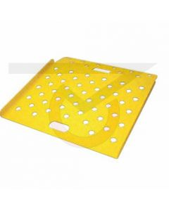 "Safety Yellow Aluminum Curp Ramp - 26""W x 18""L"