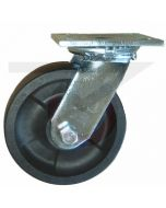 "#01HD Stainless Swivel Caster - 6"" Hi-Temp RT Wheel"