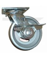 "Albion 16 Series Swivel Caster - Cam Brake - V-Groove Cast Iron 4"" x 2"""